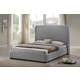 Baxton Studio Sheila Queen Modern Bed with Upholstered Headboard in Gray
