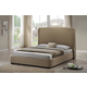 Baxton Studio Sheila King Modern Bed with Upholstered Headboard in Tan