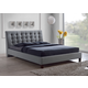 Baxton Studio Zeller Queen Modern Bed with Upholstered Headboard in Gray