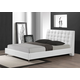 Baxton Studio Zeller Queen Modern Bed with Upholstered Headboard in White