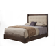 Alpine Furniture Savannah California King Tufted Upholstered Bed in Pecan