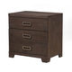 Alpine Furniture Savannah 3 Drawer Nightstand in Pecan