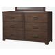 Alpine Furniture Savannah 6 Drawer Dresser in Pecan  PROMO