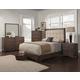 Alpine Furniture Savannah 4-Piece Tufted Upholstered Bedroom Set in Pecan