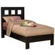 Alpine Furniture Manhattan Twin Platform Bed in Dark Espresso