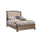 Alpine Furniture Melbourne Queen Upholstered Sleigh Bed in French Truffle
