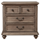 Alpine Furniture Melbourne 3 Drawer Nightstand in French Truffle