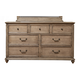 Alpine Furniture Melbourne 7 Drawer Dresser in French Truffle