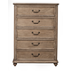 Alpine Furniture Melbourne 5 Drawer Chest in French Truffle