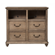 Alpine Furniture Melbourne 4 Drawer TV Media Chest in French Truffle