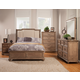 Alpine Furniture Melbourne 4-Piece Upholstered Sleigh Bedroom Set in French Truffle