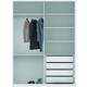 Manhattan Comfort Module 2-Door Wardrobe in White Gloss 97884