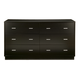 Alpine Furniture Manhattan 6 Drawer Dresser in Dark Espresso