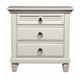 Alpine Furniture Winchester 3 Drawer Nightstand in White