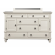 Alpine Furniture Winchester 2 Cabinet and 6 Drawer Dresser in White