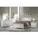 Alpine Furniture Winchester 4-Piece Shutter Panel Bedroom Set in White