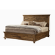 Alpine Furniture St. James King Panel Bed in Salvaged Brown
