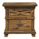 Alpine Furniture St. James 2 Drawer Nightstand in Salvaged Brown