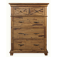 Alpine Furniture St. James 5 Drawer Chest in Salvaged Brown