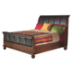 Alpine Furniture Lafayette Queen Sleigh Bed in Brown Cherry