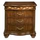 Alpine Furniture Lafayette 3 Drawer Nightstand in Brown Cherry