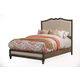 Alpine Furniture Charleston California King Upholstered Panel Bed in Antique Grey
