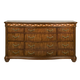 Alpine Furniture Lafayette 12 Drawer Dresser in Brown Cherry