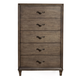 Alpine Furniture Charleston 5 Drawer Chest in Antique Grey