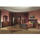Alpine Furniture Lafayette 4-Piece Sleigh Bedroom Set in Brown Cherry