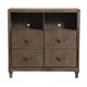 Alpine Furniture Charleston 4 Drawer TV Media Chest in Antique Grey