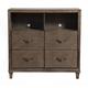 Alpine Furniture Charleston 4 Drawer TV Media Chest in Antique Grey