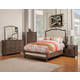 Alpine Furniture Charleston 4-Piece Upholstered Panel Bedroom Set in Antique Grey