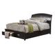 Alpine Furniture Madison Full Storage Platform Bed in Dark Espresso