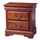 Alpine Furniture Louis Philippe 3 Drawer Nightstand in Medium Cherry