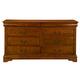 Alpine Furniture Louis Philippe 8 Drawer Dresser in Medium Cherry