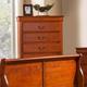 Alpine Furniture Louis Philippe 6 Drawer Chest in Medium Cherry