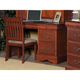 Alpine Furniture Louis Philippe 4 Drawer Computer Desk in Medium Cherry