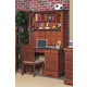 Alpine Furniture Louis Philippe Computer Desk with Hutch in Medium Cherry