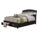 Alpine Furniture Madison Queen Storage Platform Bed in Dark Espresso