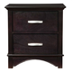 Alpine Furniture Madison 2 Drawer Nightstand in Dark Espresso
