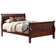 Alpine Furniture Louis Philippe II Full Sleigh Bed in Cherry