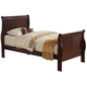 Alpine Furniture Louis Philippe II Twin Sleigh Bed in Cherry