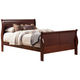 Alpine Furniture Louis Philippe II Queen Sleigh Bed in Cherry