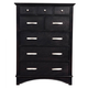 Alpine Furniture Madison 8 Drawer Chest in Dark Espresso