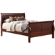 Alpine Furniture Louis Philippe II King Sleigh Bed in Cherry