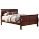 Alpine Furniture Louis Philippe II California King Sleigh Bed in Cherry
