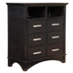 Alpine Furniture Madison 4 Drawer TV Media Chest in Dark Espresso