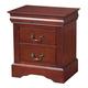 Alpine Furniture Louis Philippe 2 Drawer Nightstand in Cherry