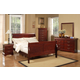 Alpine Furniture Louis Philippe 5-Piece Sleigh Bedroom Set in Cherry