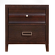 Alpine Furniture Legacy 2 Drawer Nightstand in Black Cherry